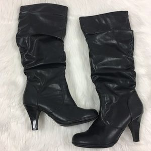 Euro Soft by Soffe Black Knee Boots Size 6.5